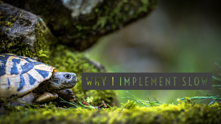 Why I implement slowly
